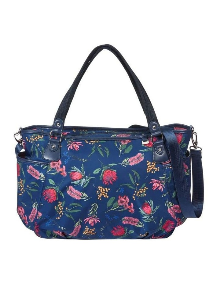Tote Nappy Bag - Botanical Navy (7036) image 7