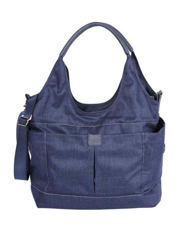 Tote Slouch Nappy Bag - Denim Blue image 1