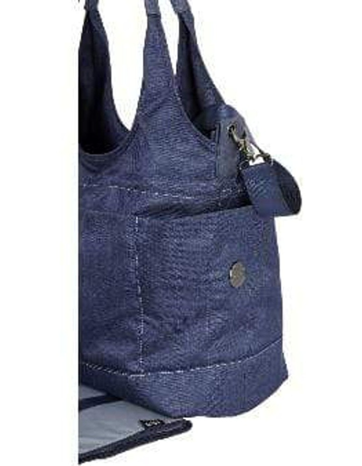 Tote Slouch Nappy Bag - Denim Blue image 3