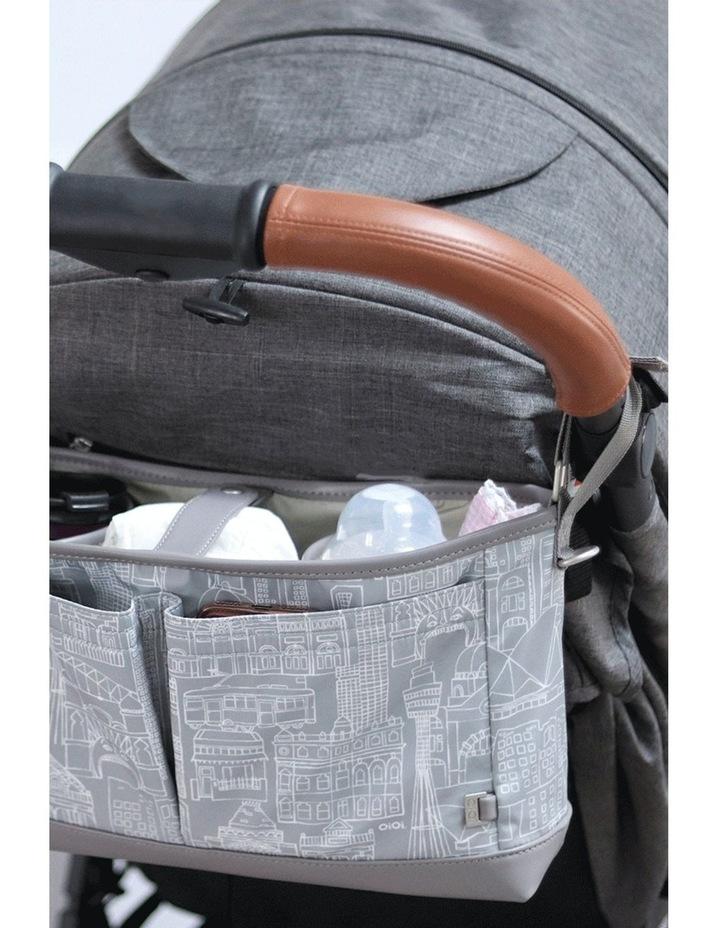Stroller Organiser/Pram Caddy - Cityscape Grey image 3