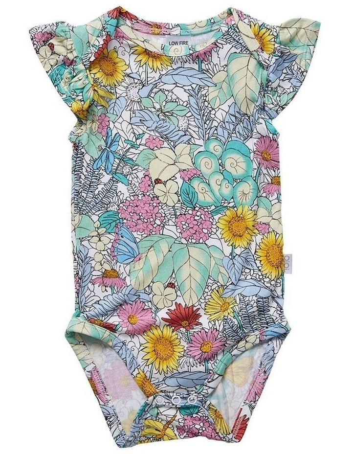 Ruffled Cap Sleeve Bodysuit - Secret Garden image 1