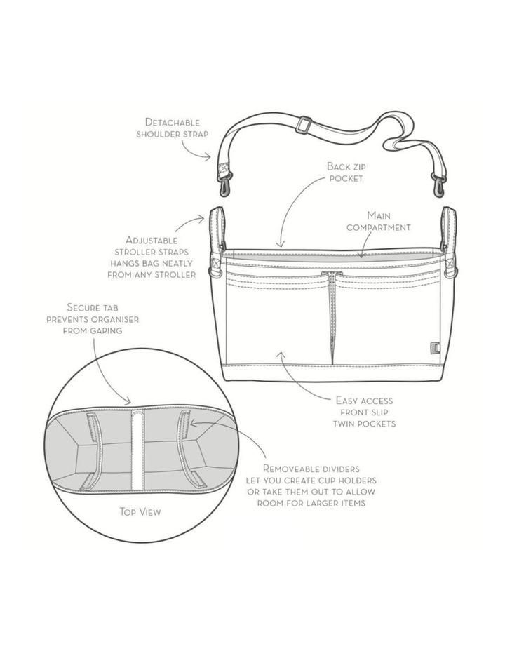 Faux Leather Stroller Organiser/Pram Caddy - Tan image 4