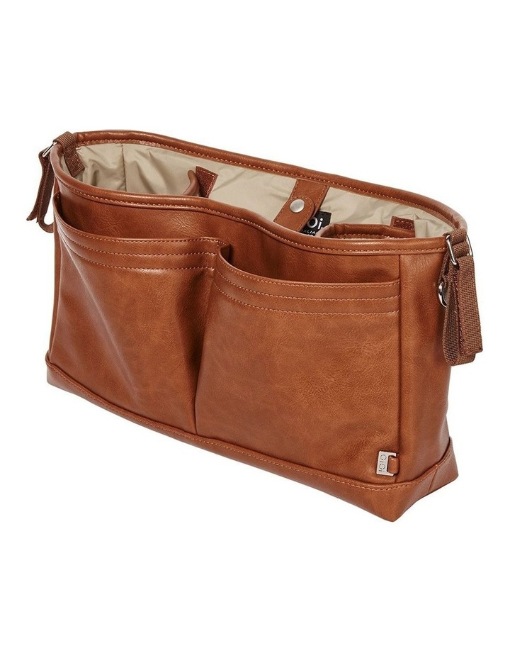 Faux Leather Stroller Organiser/Pram Caddy - Tan image 5
