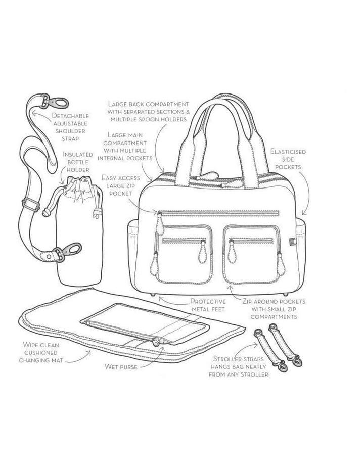 Carry All Denim Grey Nappy Bag image 3