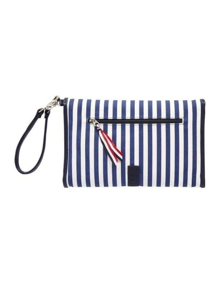 Change Clutch - Navy/White Stripe image 2