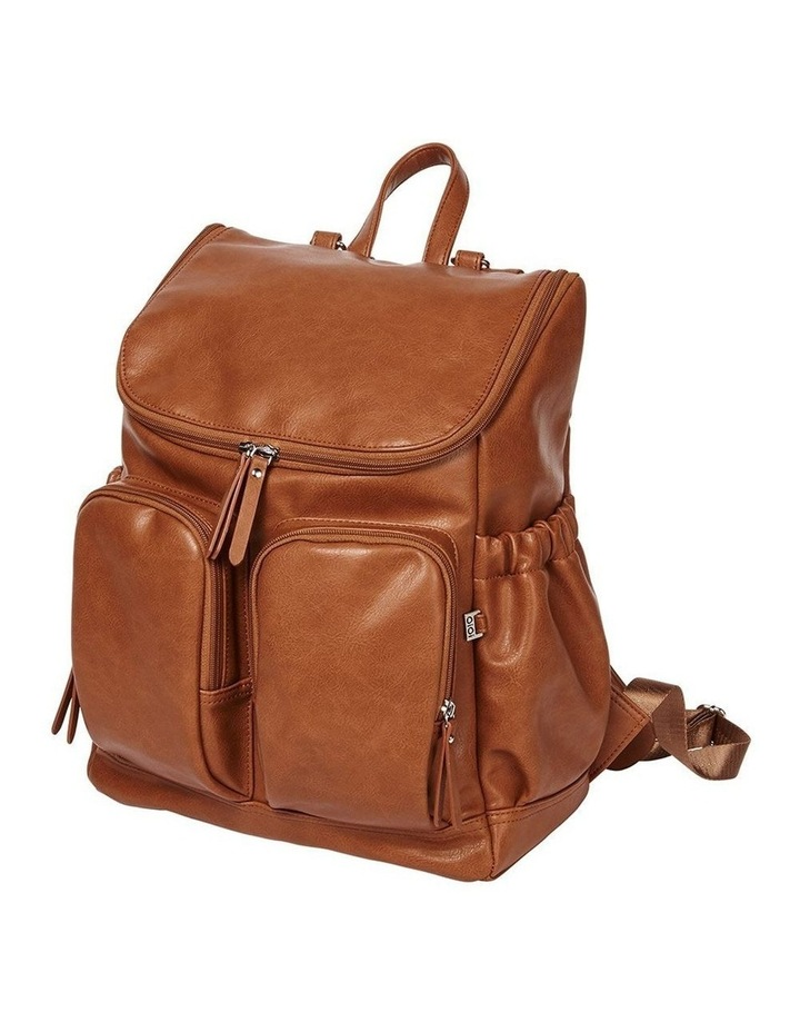 Faux Leather Nappy Backpack - Tan image 1