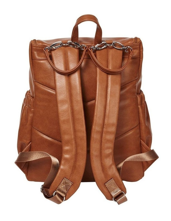 Faux Leather Nappy Backpack - Tan image 2