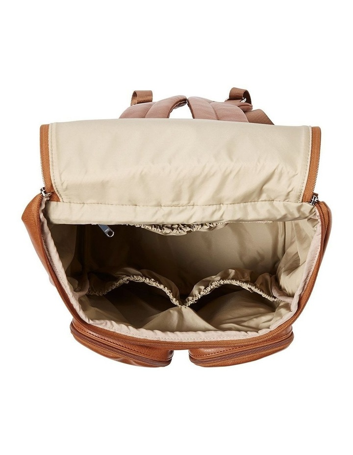 Faux Leather Nappy Backpack - Tan image 4