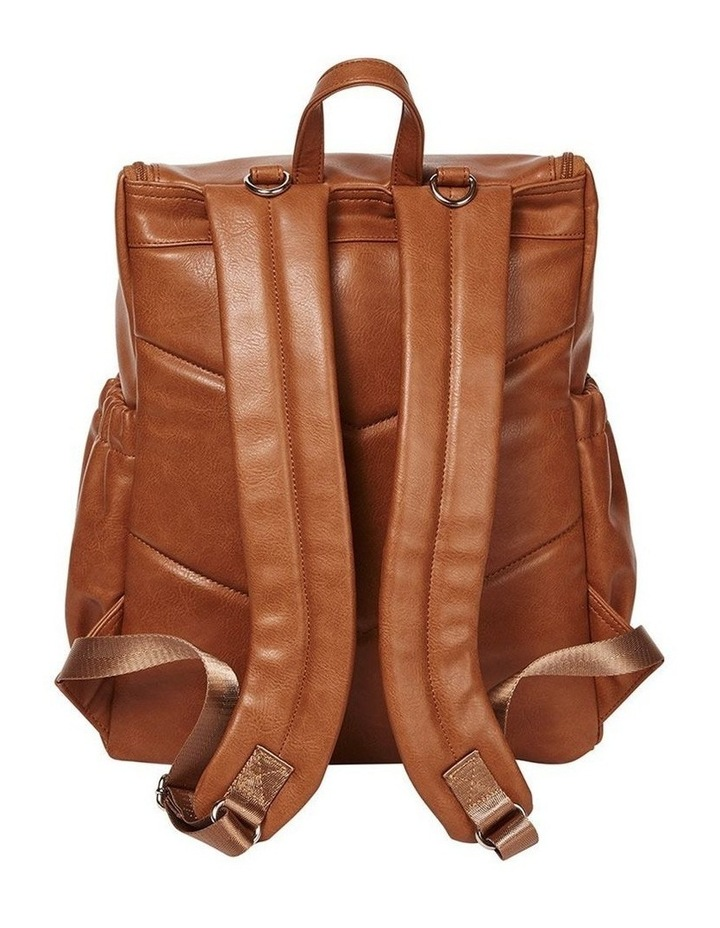 Faux Leather Nappy Backpack - Tan image 5