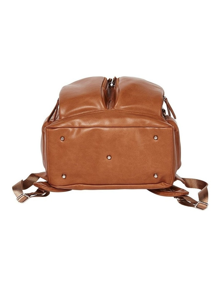 Faux Leather Nappy Backpack - Tan image 6