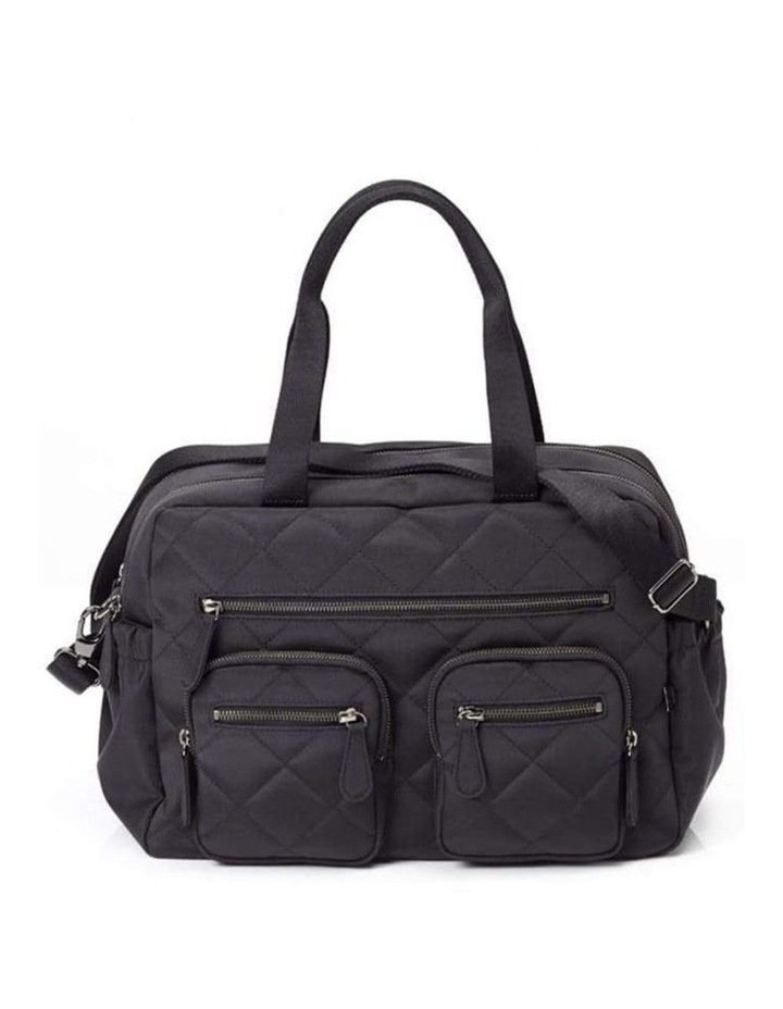Carry All Black Diamond Quilt Nappy Bag image 1