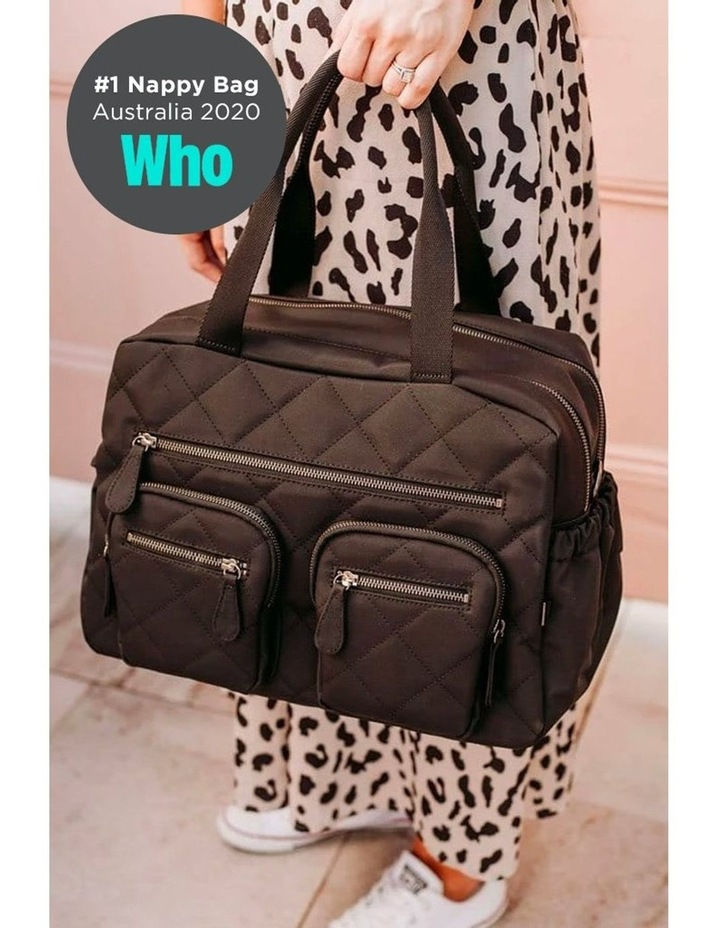 Carry All Black Diamond Quilt Nappy Bag image 2