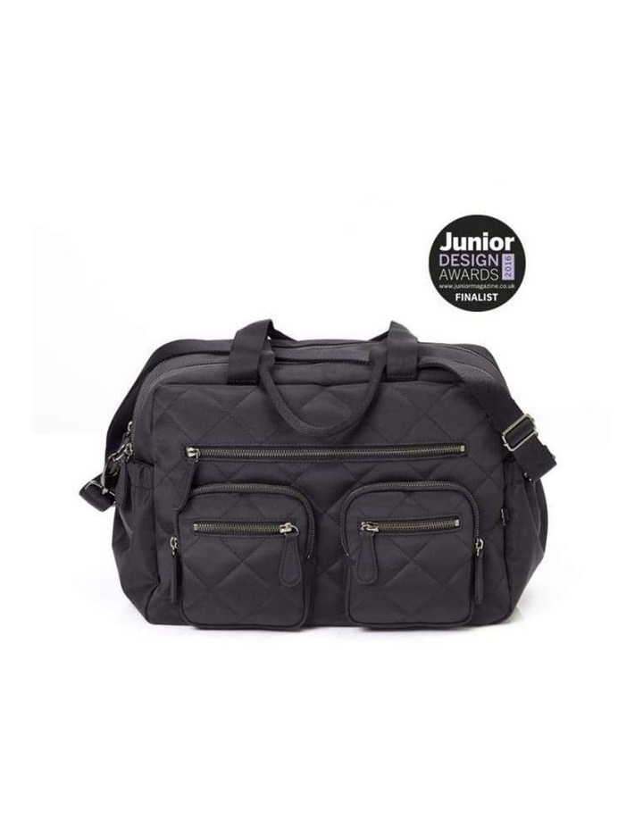 Carry All Black Diamond Quilt Nappy Bag image 6