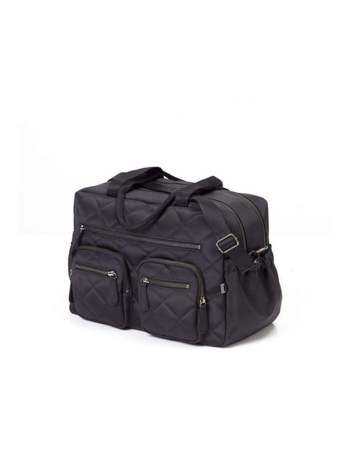 Carry All Black Diamond Quilt Nappy Bag image 7