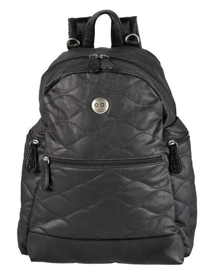 Backpack Quilt Nappy Bag - Black image 1