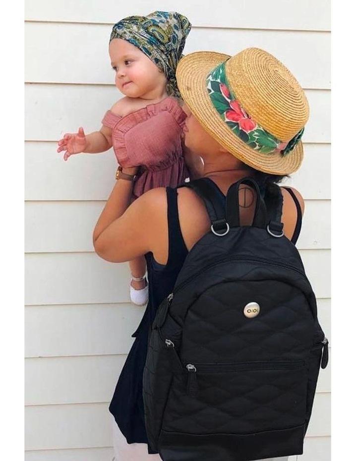 Backpack Quilt Nappy Bag - Black image 2