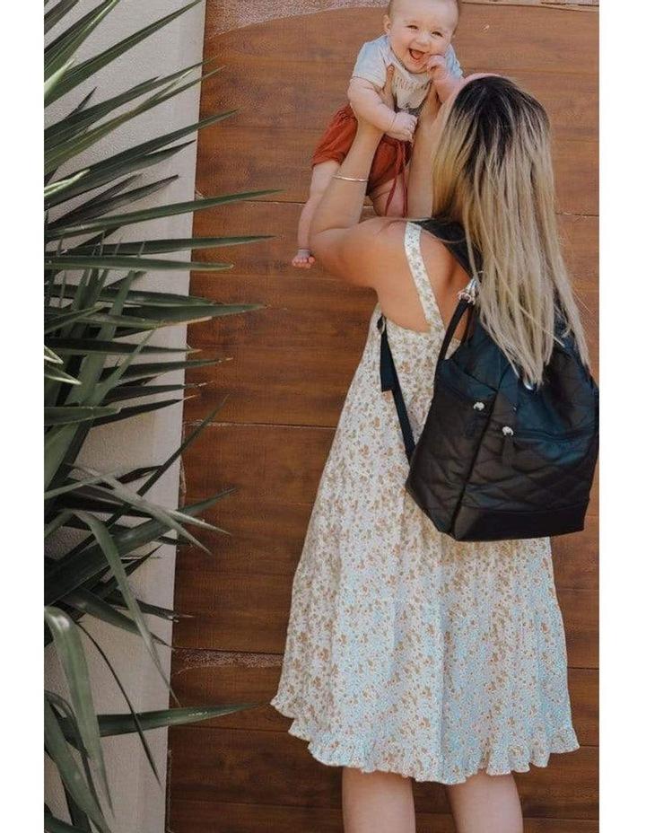 Backpack Quilt Nappy Bag - Black image 4