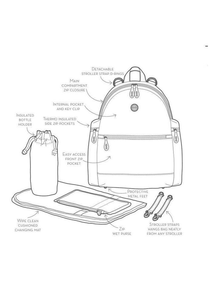 Backpack Quilt Nappy Bag - Black image 5