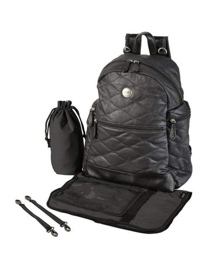 Backpack Quilt Nappy Bag - Black image 6