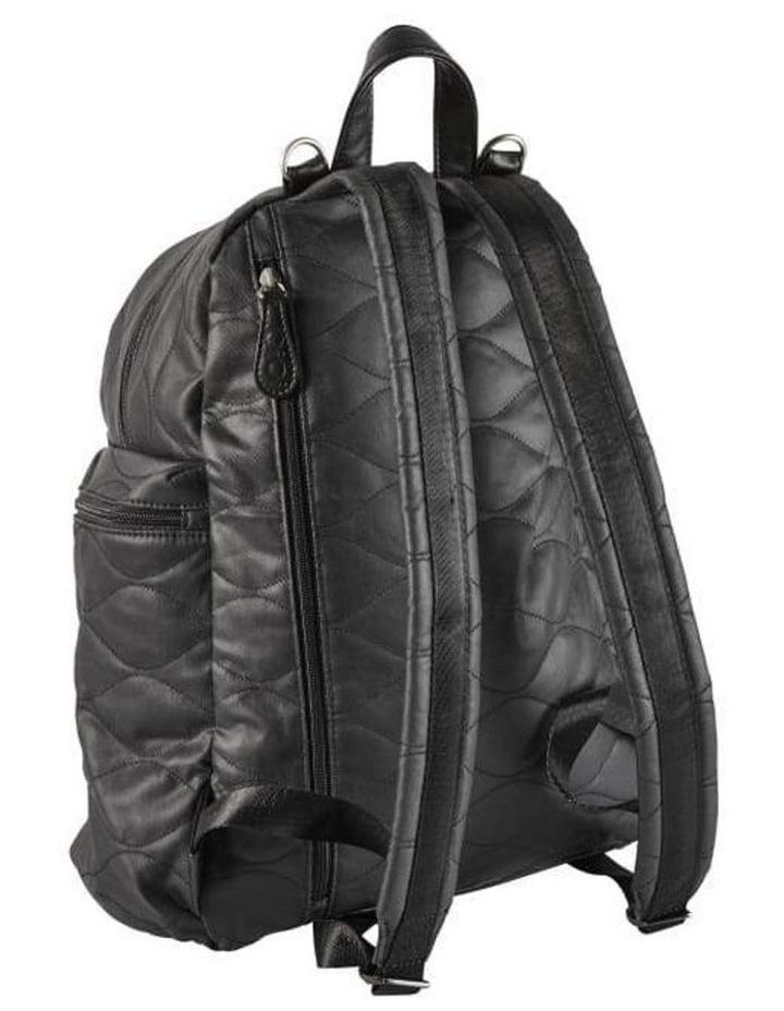Backpack Quilt Nappy Bag - Black image 7