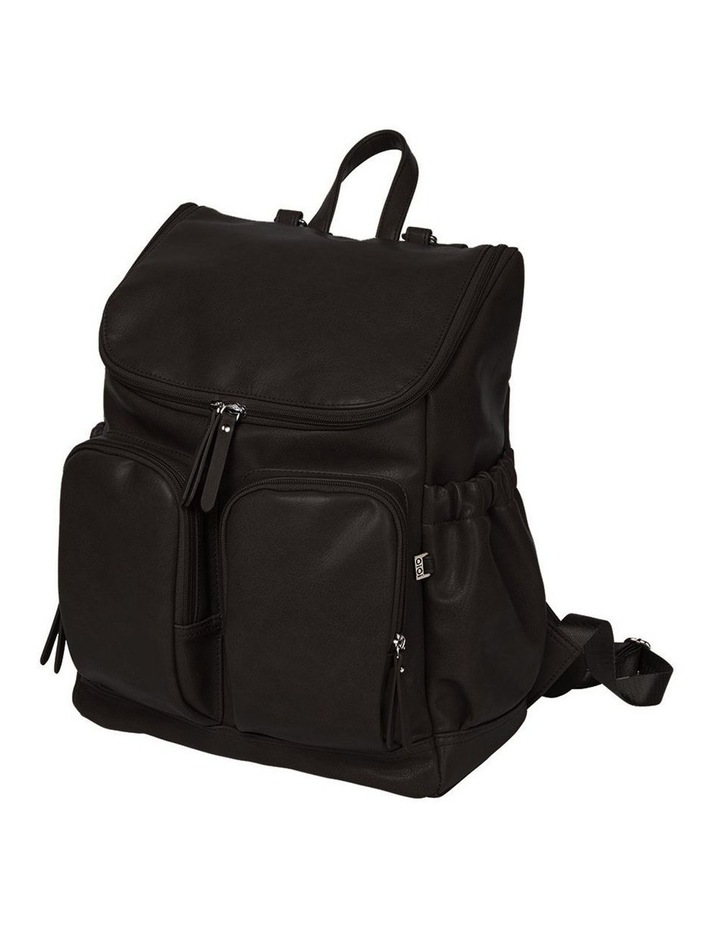 Faux Leather Nappy Backpack - Black image 1