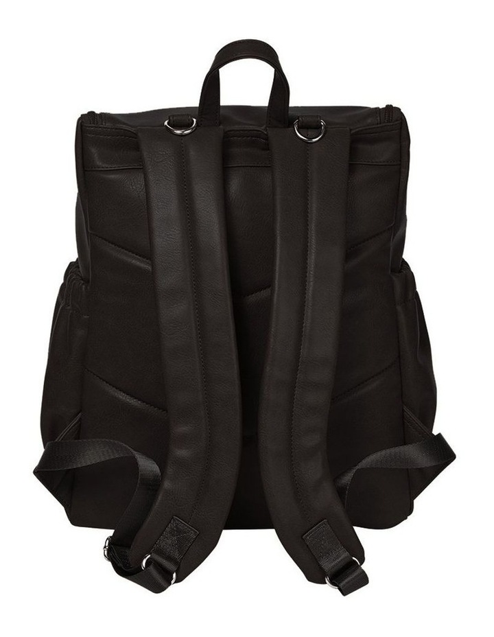 Faux Leather Nappy Backpack - Black image 2