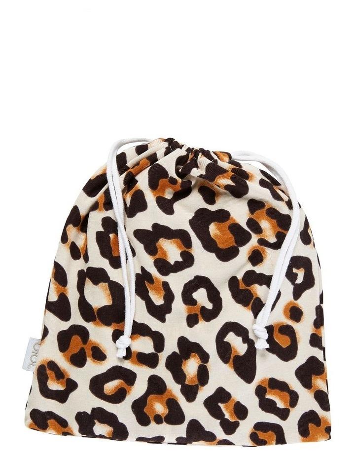 Zip Ruffled Romper - Natural Leopard image 3