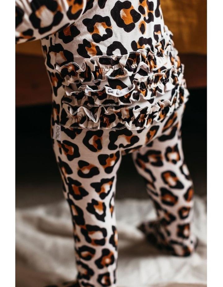 Zip Ruffled Romper - Natural Leopard image 5