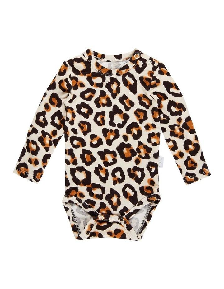Long Sleeve Bodysuit - Natural Leopard image 1
