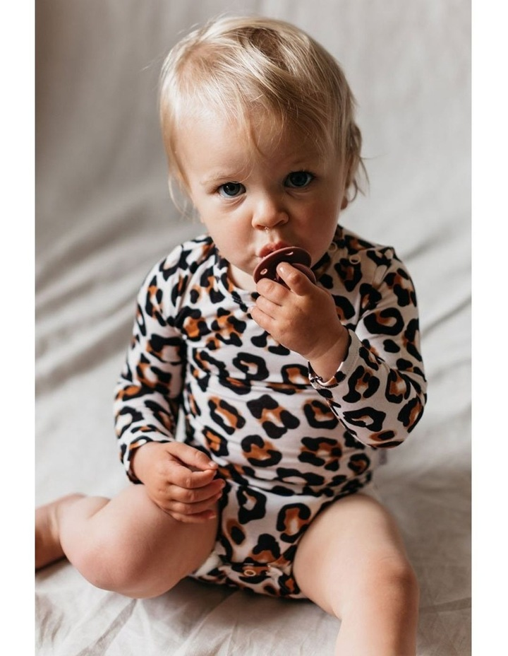Long Sleeve Bodysuit - Natural Leopard image 3