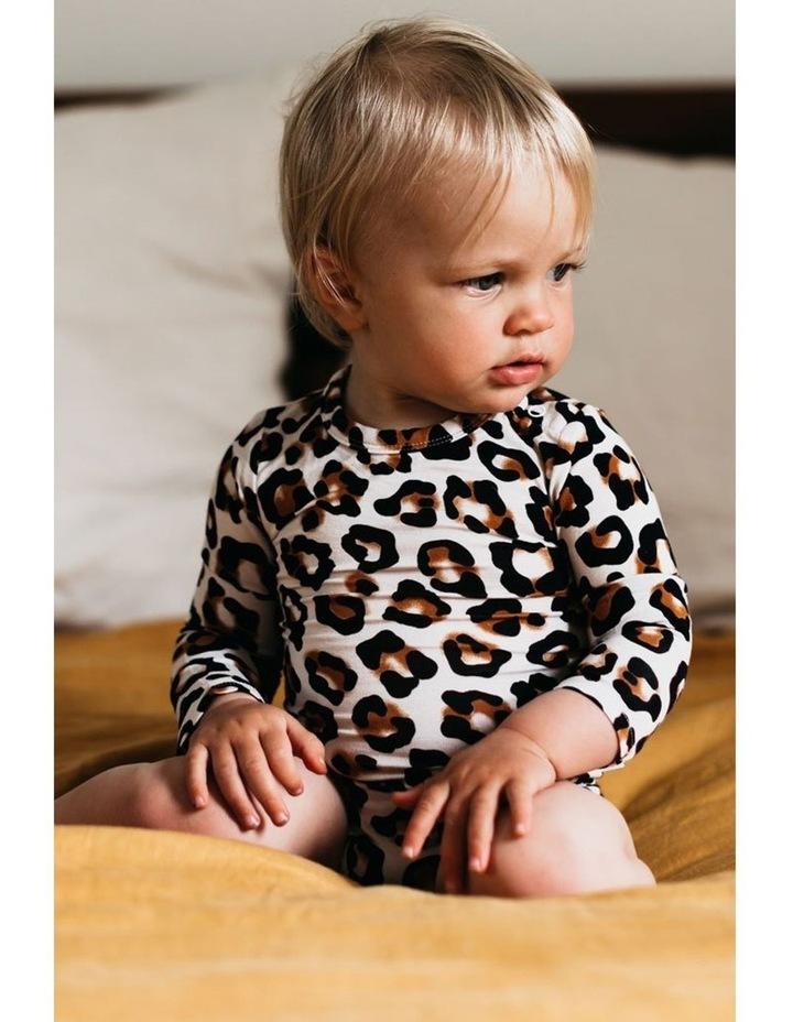Long Sleeve Bodysuit - Natural Leopard image 4