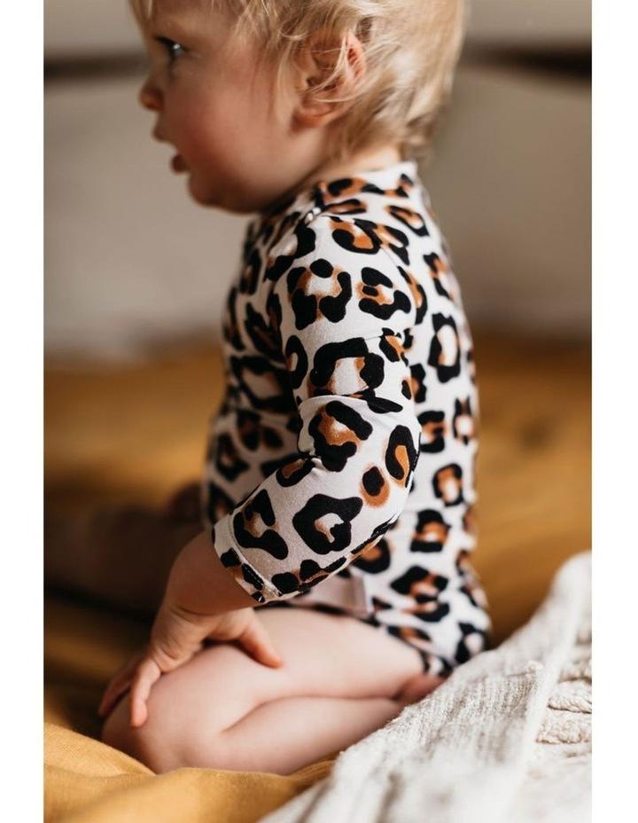 Long Sleeve Bodysuit - Natural Leopard image 5