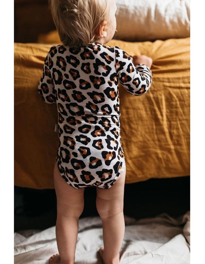 Long Sleeve Bodysuit - Natural Leopard image 6