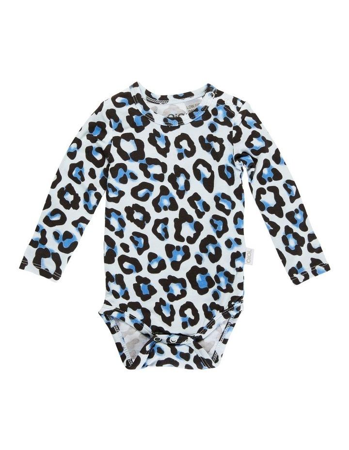 Long Sleeve Bodysuit - Blue Leopard image 1