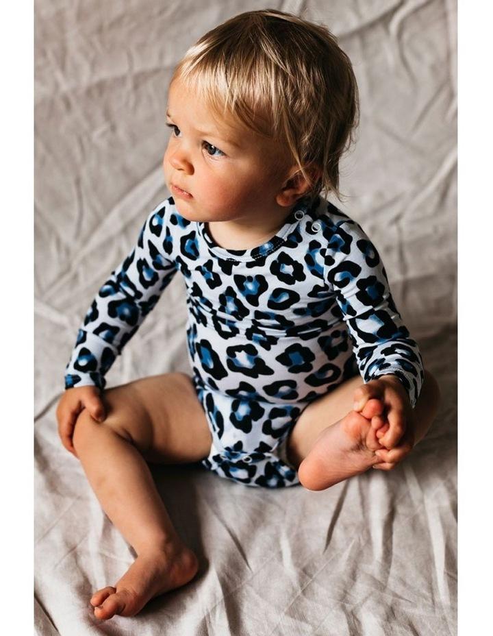 Long Sleeve Bodysuit - Blue Leopard image 2