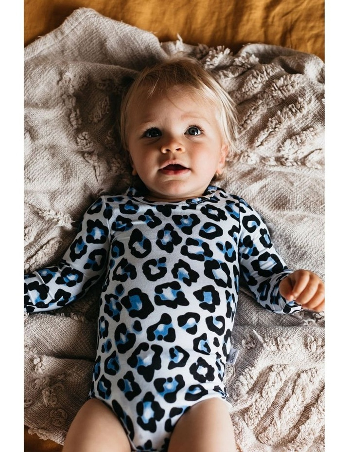 Long Sleeve Bodysuit - Blue Leopard image 3