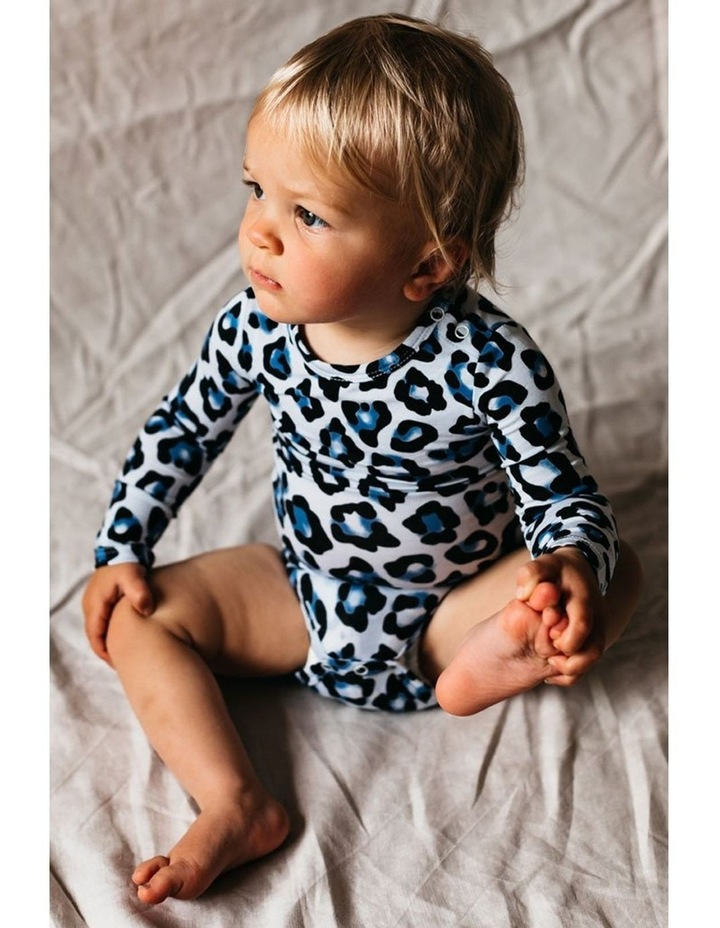 Long Sleeve Bodysuit - Blue Leopard image 6