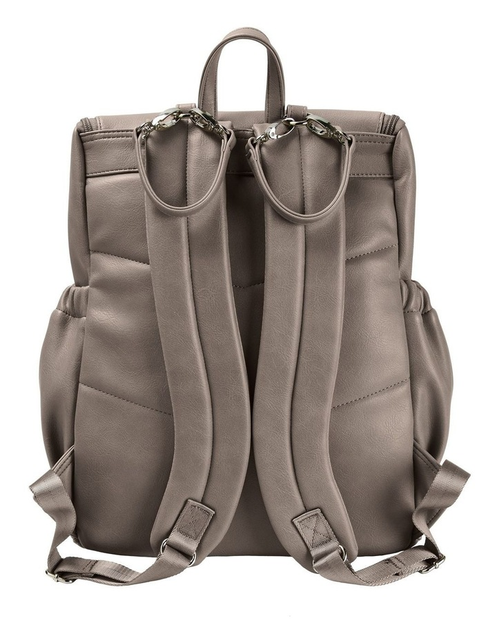 Faux Leather Nappy Backpack - Taupe image 6