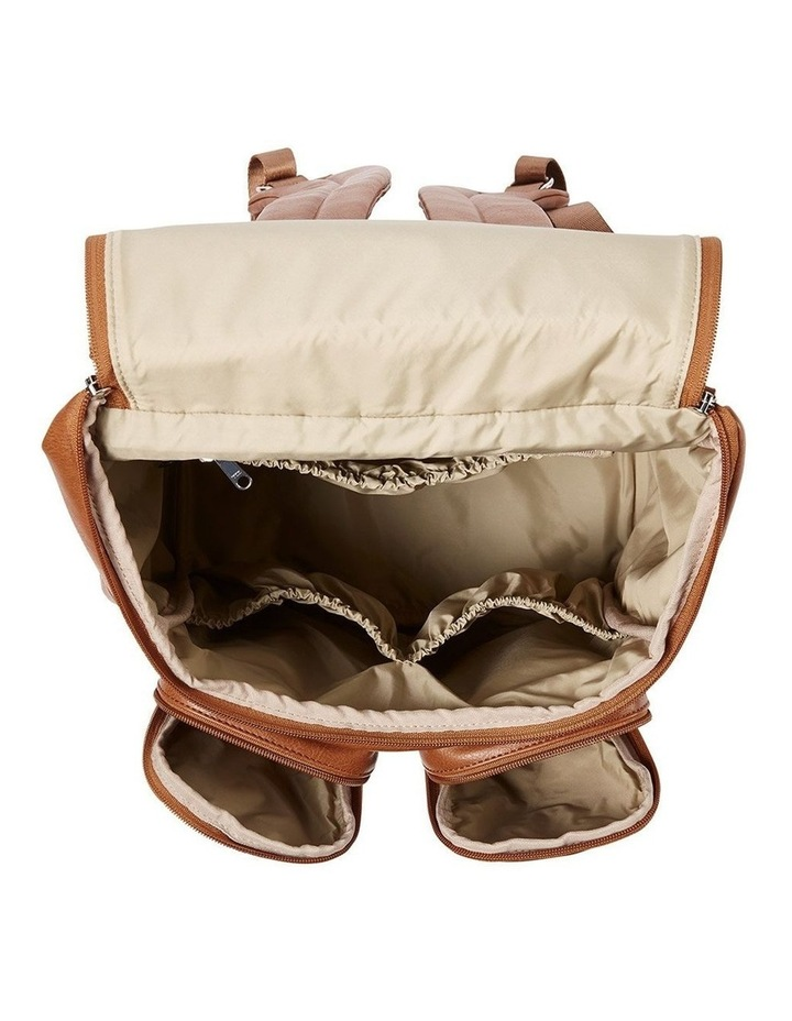Faux Leather Nappy Backpack - Taupe image 7