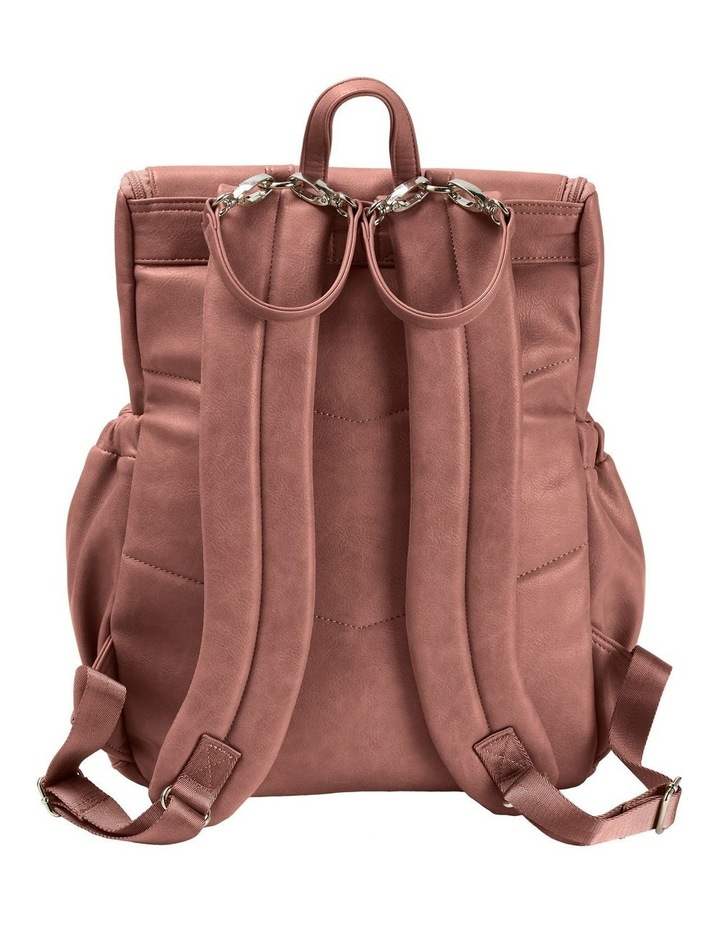 Faux Leather Nappy Backpack - Dusty Rose image 3