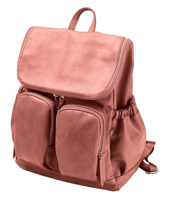 Faux Leather Nappy Backpack - Dusty Rose image 5
