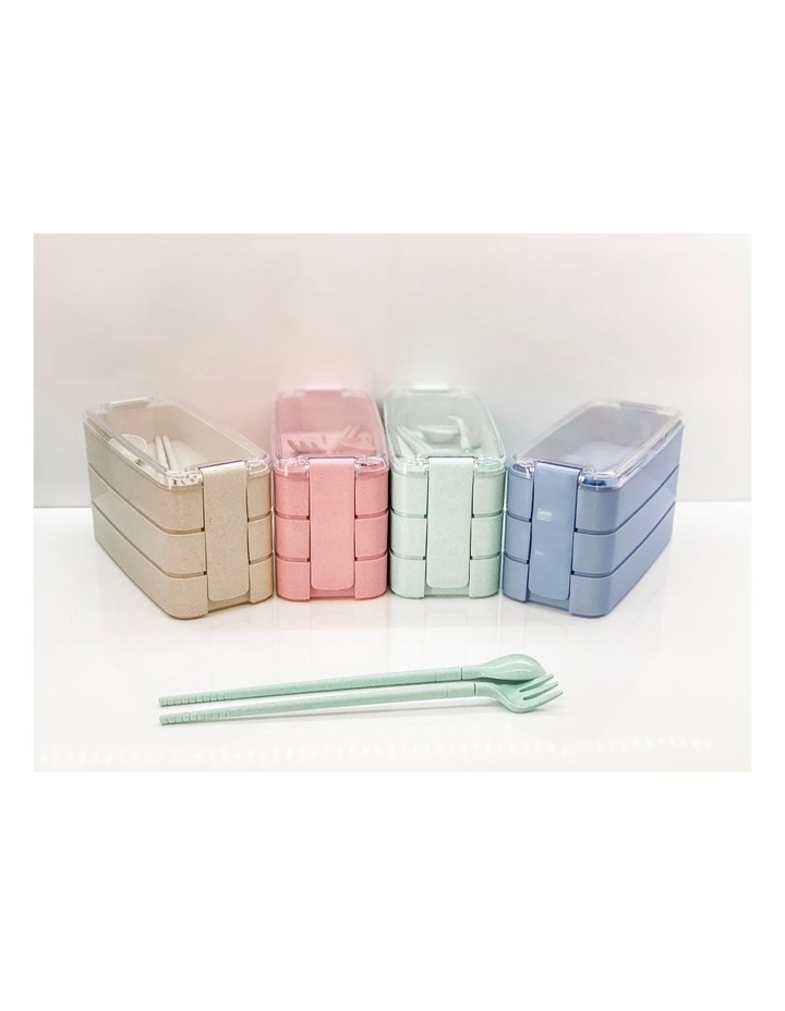 Bento Lunch Box - 3 Tiered - Green image 4