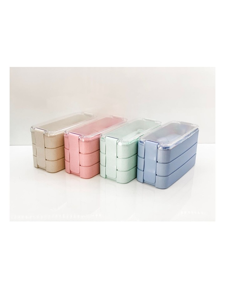 Bento Lunch Box - 3 Tiered - Green image 5