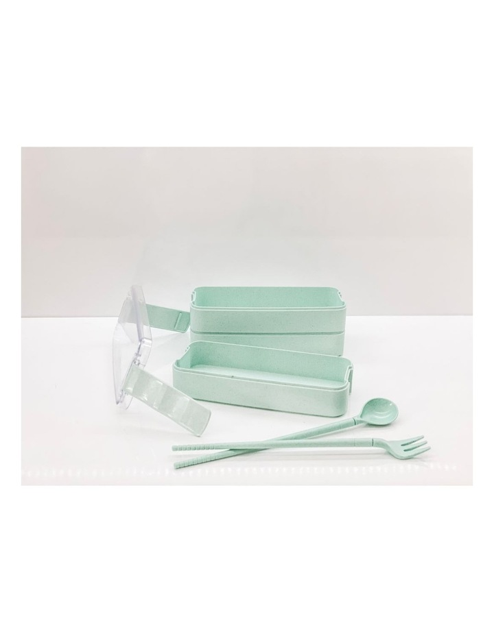 Bento Lunch Box - 3 Tiered - Green image 6