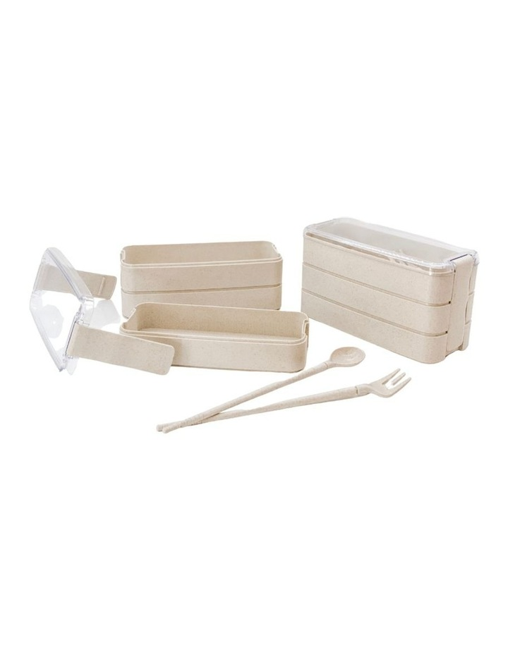 Bento Box - 3 Tiered - Wheat image 1