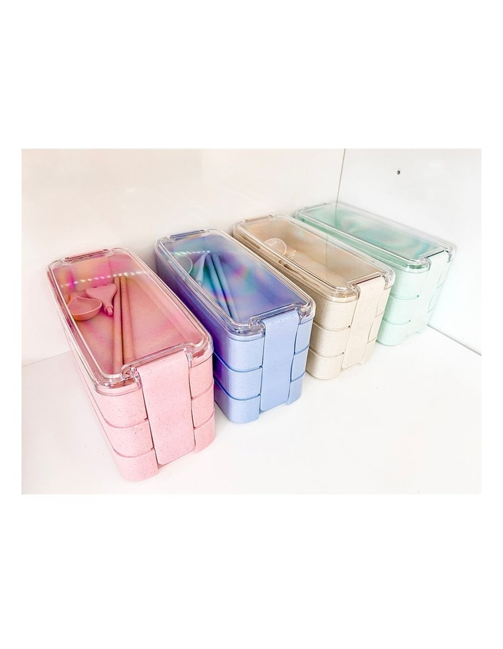 Bento Lunch Box - 3 Tiered - Blue image 6