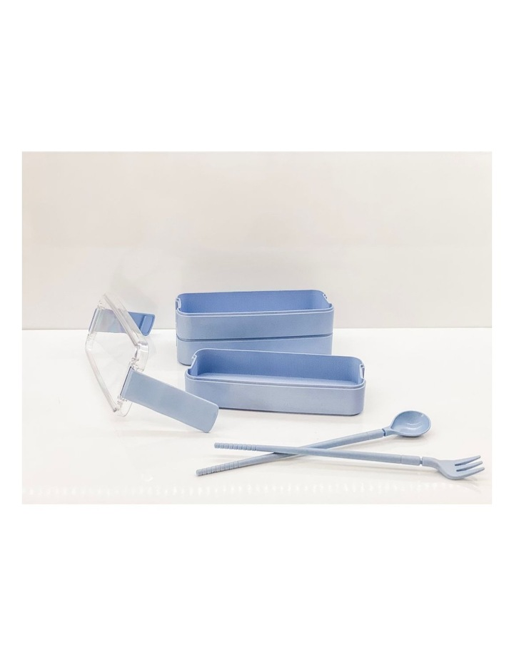 Bento Lunch Box - 3 Tiered - Blue image 7