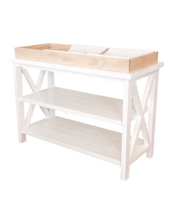 Hampton 3 Tiered Table with Change Tray Top  Natural/White image 1