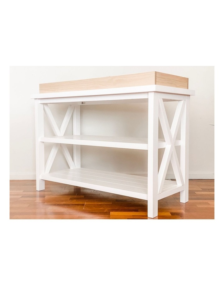 Hampton 3 Tiered Table with Change Tray Top  Natural/White image 2