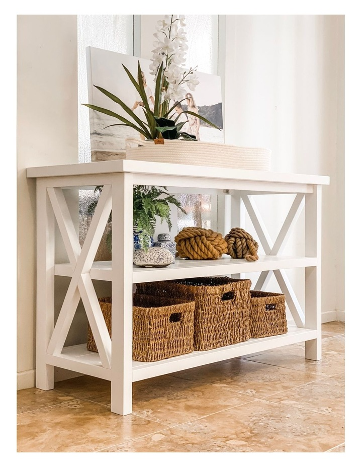 Hampton 3 Tiered Table with Change Tray Top  Natural/White image 3